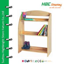 Wooden shelf for book store kids book shelf
