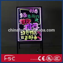 Repeated use led moving signage writing fluoresent light box