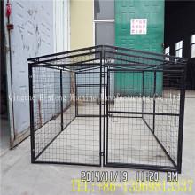 Caixa portátil dobrável portátil do cão da gaiola do animal de estimação do fio de metal
