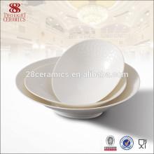Chaozhou weiße einfache keramische Suppenschüsseln für Verkauf