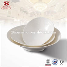 Tazón de fuente de cerámica llano blanco de los tazones de fuente de Chaozhou para la venta