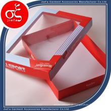 Caixa personalizada de papel para embalagem de presente, caixas de roupas íntimas femininas