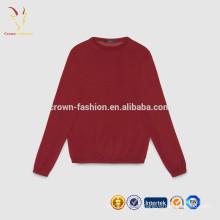 Suéter de cuello redondo de pura cachemira pálido de los cabritos del suéter del cachemira de los niños del color