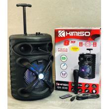 QS-830 8 Inch Speaker Outdoor Portable Trolley Speaker DJ Speaker System Subwoofer Sound Box With LED Light KIMISO