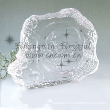Newest design top quality engraved crystal ashtray