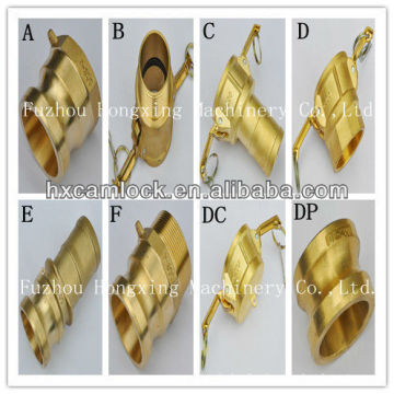 Brass quick couplings for pipe