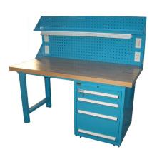 Heavy Duty Steel Workshop Storage Workbench with Peg Board