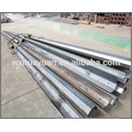 Hot Dip Galvanized steel and powder coating hinged light pole for seaport and square