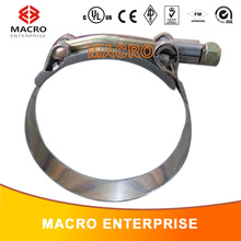 stainless steel T-bolt clamp turbo pipe hose coupler