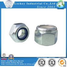Steel Hex Nylon Nut Zinc Plated