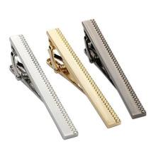Mens Metal Classic Tie Bar Clip Silver