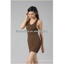 Falda ocasional de las mujeres de la manera de la calidad superior, venta al por mayor que hace punto falda inconsútil de las mujeres
