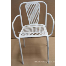 Industrial metal restaurant chair