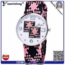 Yxl-204 Hight Quality Quartz Sport Men Women Reloj de pulsera de nylon al por mayor Custom Woven Lady reloj de pulsera