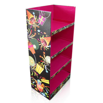Bright Color Cardboard Floor Display for Gifts