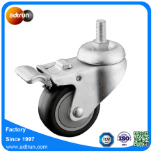 "Ball Bearing Thread Thread Swivel 3 ""PU Casters"
