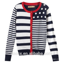 15STC6711 bamboo colorful striped sweater