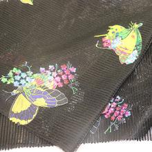 Tissu en maille de broderie pour vêtement