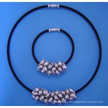 Conjunto de joyería de la perla (SET33)