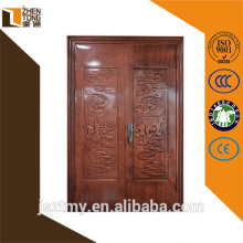 Пользовательских стальная рама интерьер/экстерьер безопасности дверь дизайн с грилем