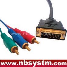 Câble DVI à 3 RCA