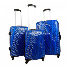 Rolling upright PC luggage with bright printing
