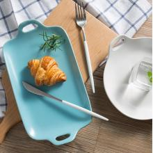 Double ear ceramic tray