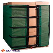 Película reutilizável de embalagem de paletes para embalagens de cartão com alta estabilidade