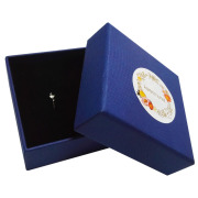 logo printed jewelry package ring box with foam insert