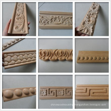 Carved decorative wood moulding trim