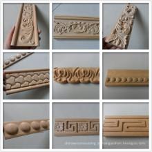 Guarnição de moldagem de madeira decorativa esculpida