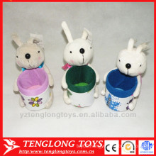 Cute rabbit pen holder, plush pen container