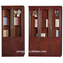Unadorned earthy 2/3 door bookshelf
