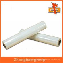 China película de estiramiento PE transparente de alta calidad para mano y máquina usando