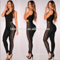 2017 Private Label Sleeveless Plunging Pants One Piece Jumpsuit