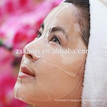 Masque facial transparent à l'acide hyaluronique
