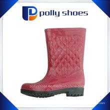 Vermelho portátil borracha impermeável chuva sapatos