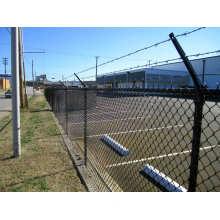 PVC beschichtete preiswerte Kettenverbindungs-Zaun für Verkauf