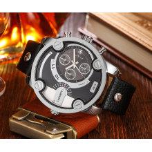 Cagarny 6819 Мужские наручные часы Серебряного случая Многофункциональный кнопки и маленькие циферблаты