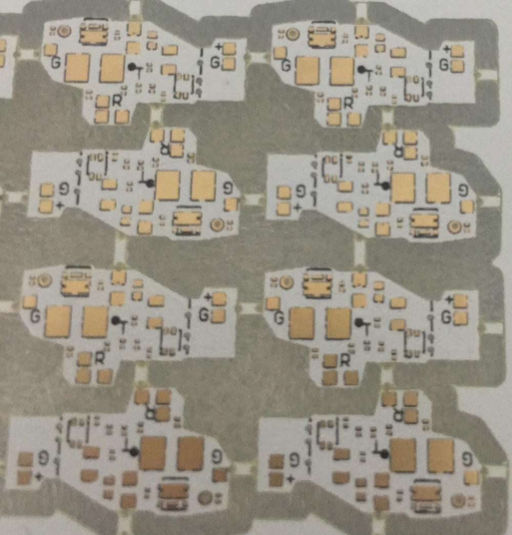 FR4 0.2mm thickness white Solder ENIG PCB