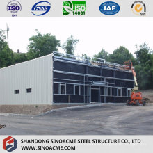 Beweglicher Stahlstruktur-Hardware-Geschäft mit Flachdach