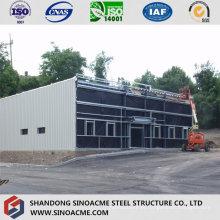 Loja de ferragens de estrutura de aço móvel com telhado plano