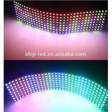 P10 direccionable flexible sk6812 WS2812B 5050 RGB 16x16 8x32 píxeles matriz LED