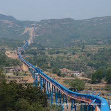 Long Distance Overland Belt Conveyor System for Mining