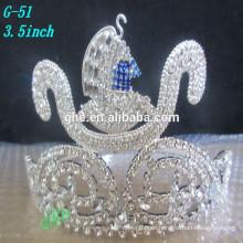 Tocado de encargo, corona al por mayor de la belleza y tocado Corona de la tiara de la manera del rey