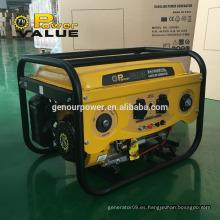 Valor de la energía Taizhou 6.5hp 2800w generador de la gasolina de la energía