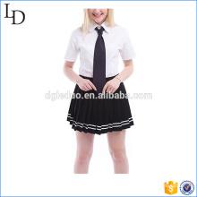 Verão algodão misturas escola design uniforme estilo britânico China fábrica