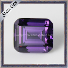 Wholesale Top Grade Amethyst Octagon Emerald Cut CZ Gemstone