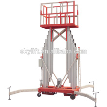 Plataforma de trabajo aérea de aluminio de doble columna eléctrica móvil
