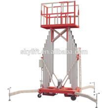 Plataforma de trabalho aéreo de alumínio de coluna dupla elétrica móvel